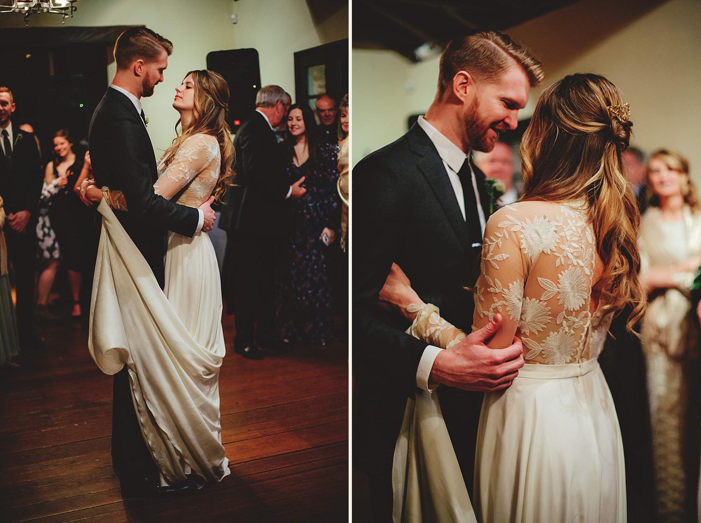 casa feliz wedding photos: bride adn groom dancing