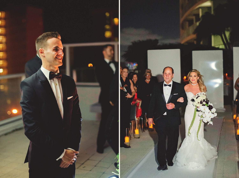 romantic-w-fort-lauderdale-wedding: bride walking down the asile