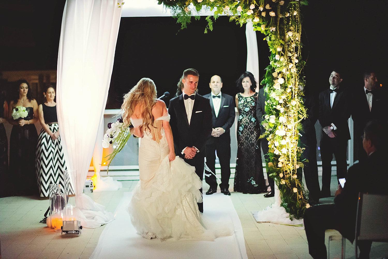 romantic-w-fort-lauderdale-wedding: bride walking around groom