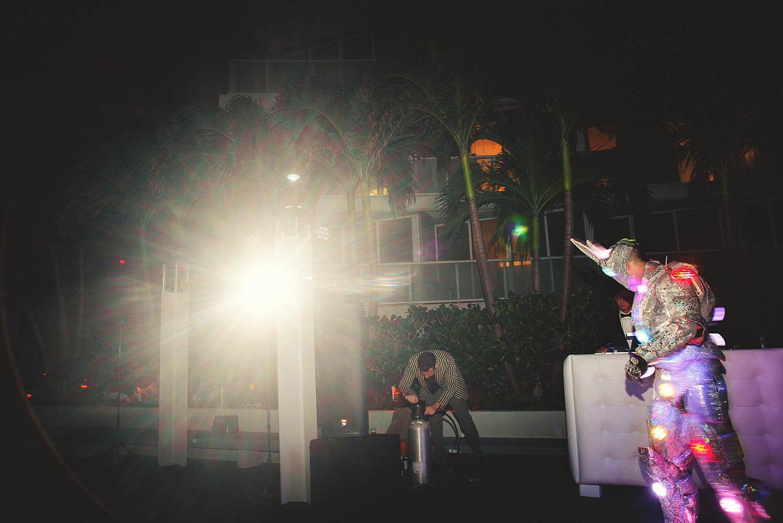 romantic-w-fort-lauderdale-wedding: rabbit robot with smoke