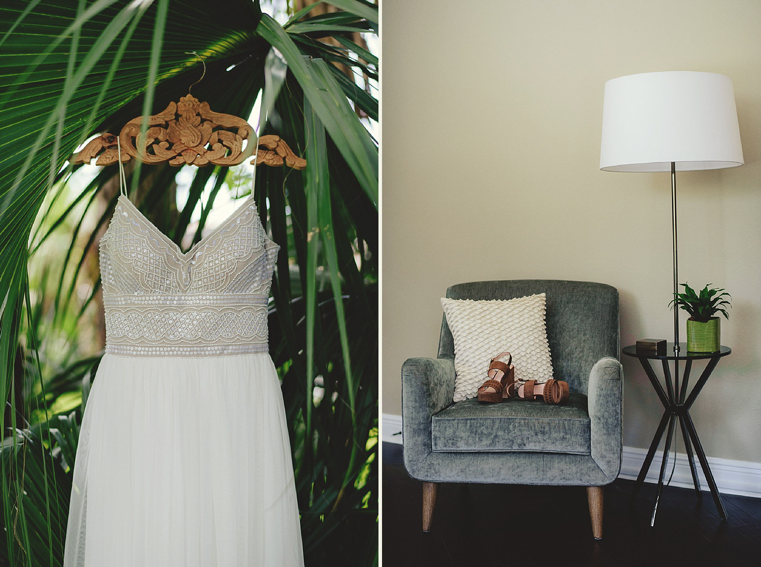 knowles memorial chapel wedding: BLHDN dress and shoes