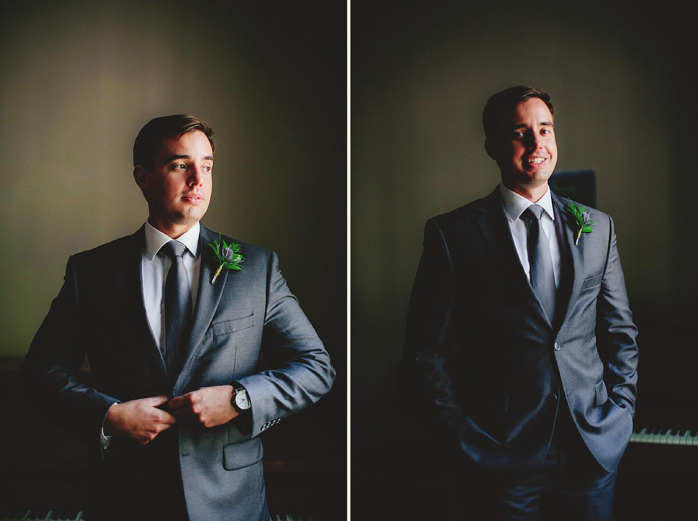 knowles memorial chapel wedding: groom portraits