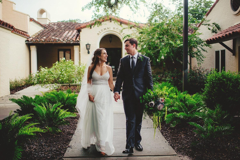 knowles memorial chapel wedding: walking through rollins college