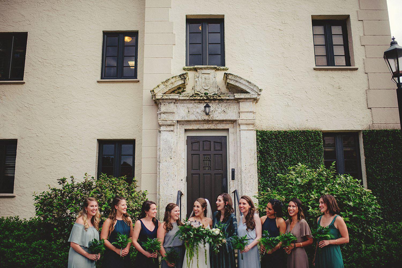 knowles memorial chapel wedding: bridesmaids