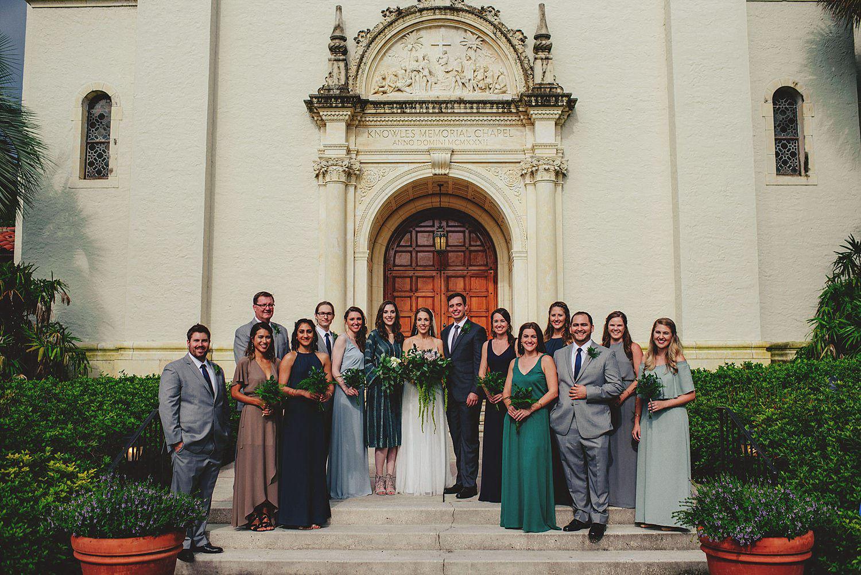 knowles memorial chapel wedding: bridesmaids and groomsmen