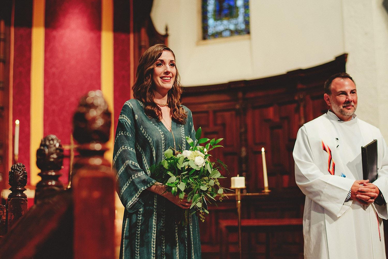 knowles memorial chapel wedding: sister of bride crying