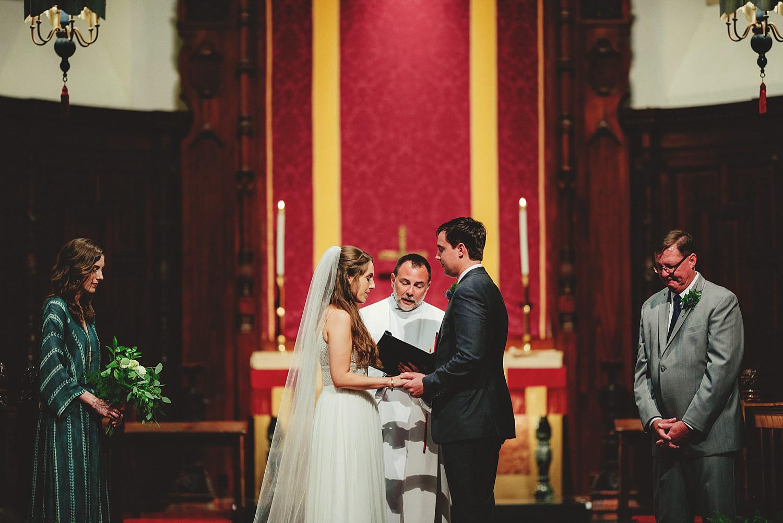 knowles memorial chapel wedding: praying