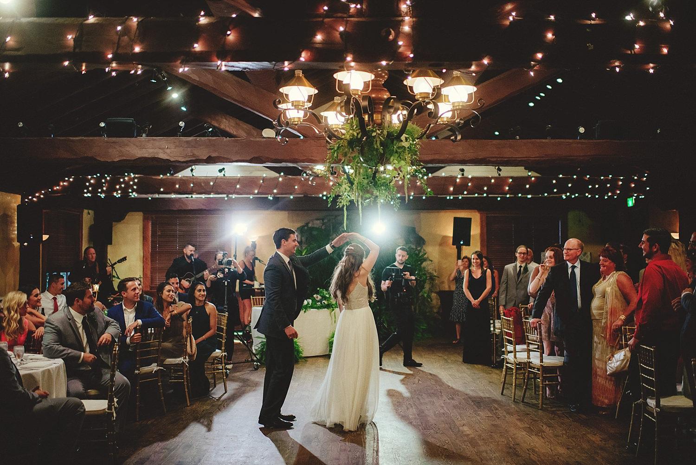 dubsbread wedding reception:  groom twirling bride