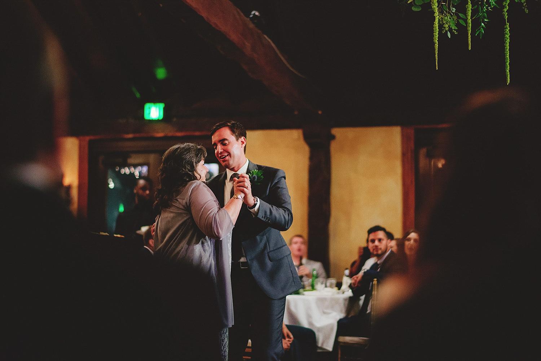dubsbread wedding reception:  mother son dance
