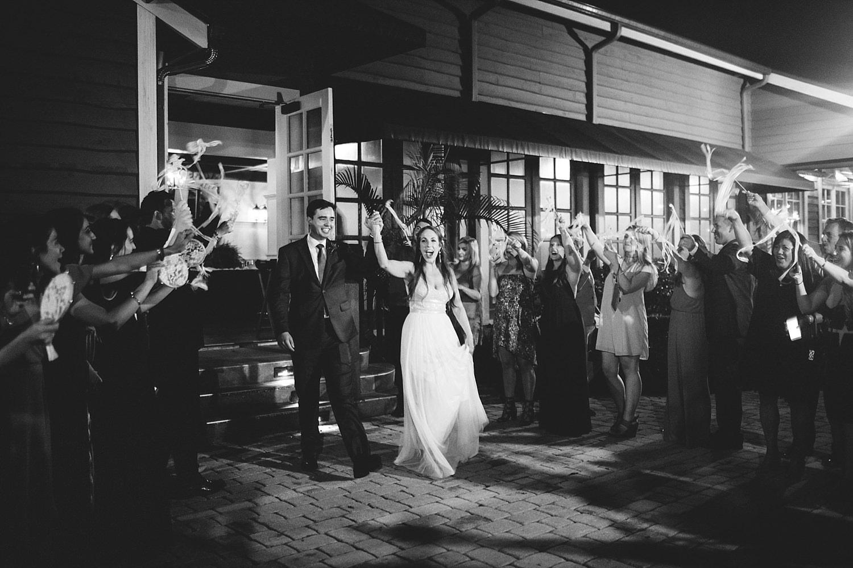 dubsbread wedding reception:  exit