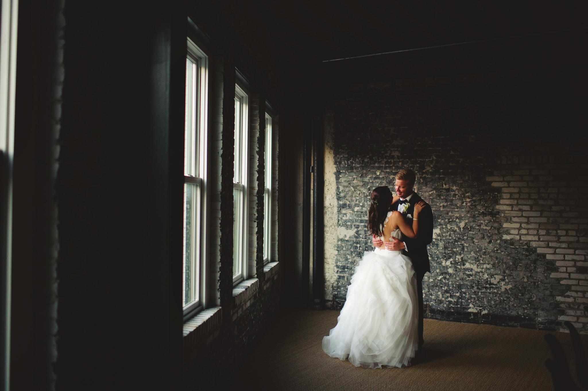 industrial oxford exchange wedding photos