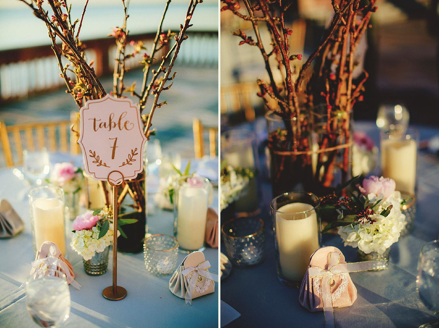 editorial ringling wedding: reception decor on the patio