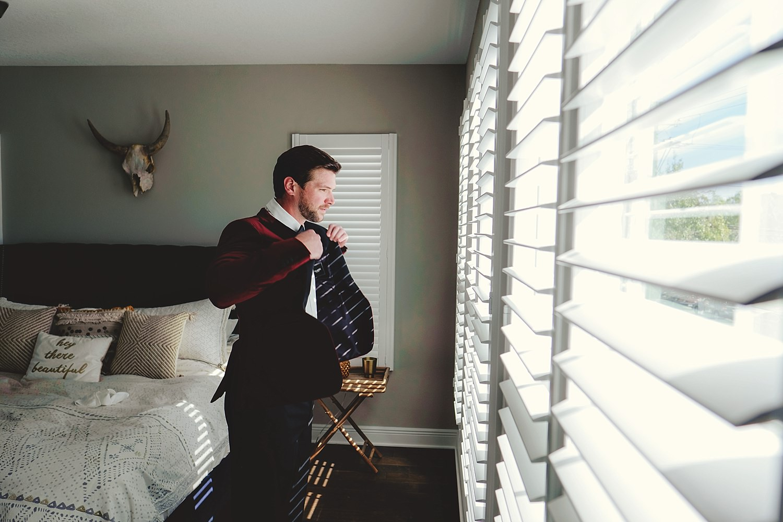 groom straightening jacket