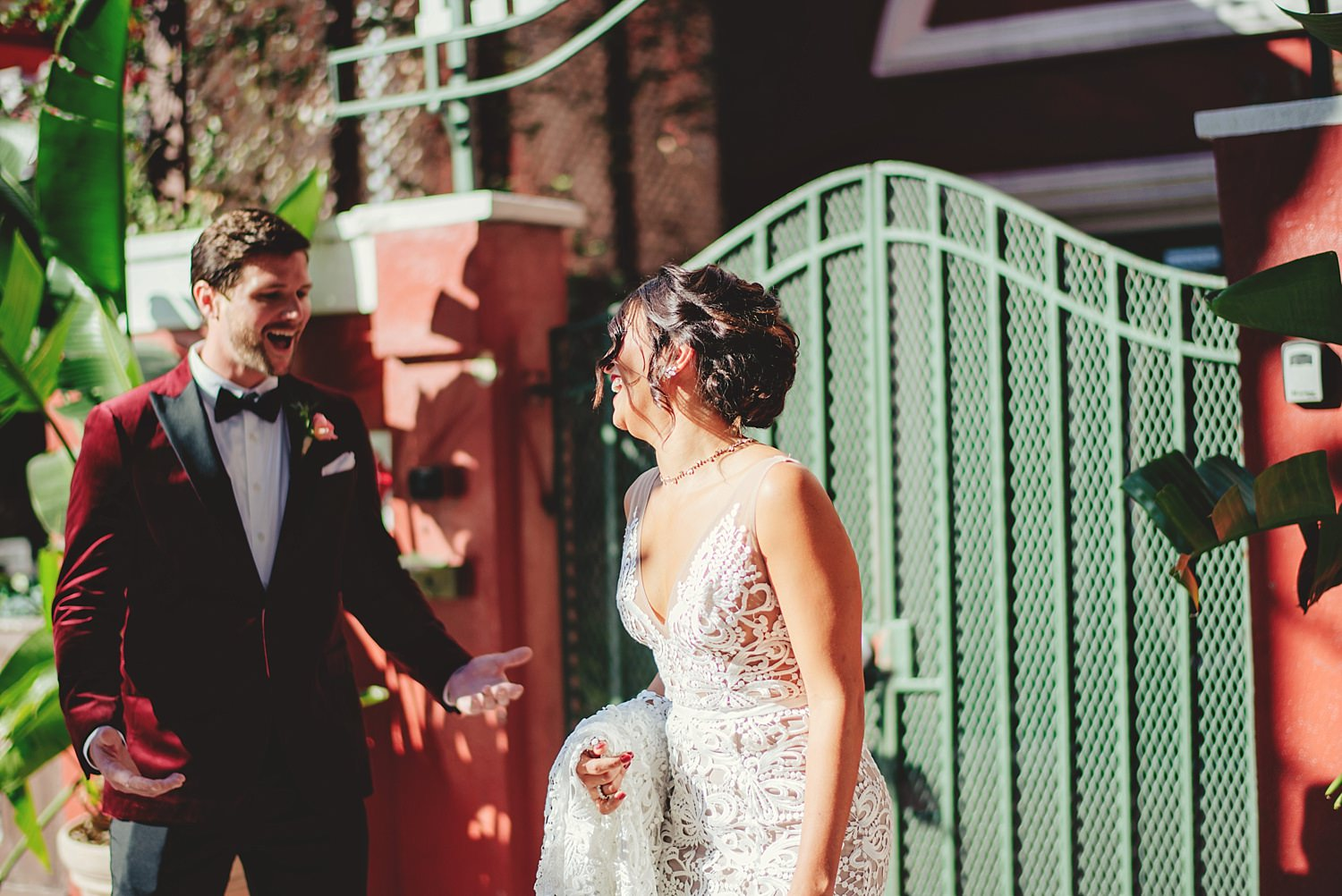station house wedding first look