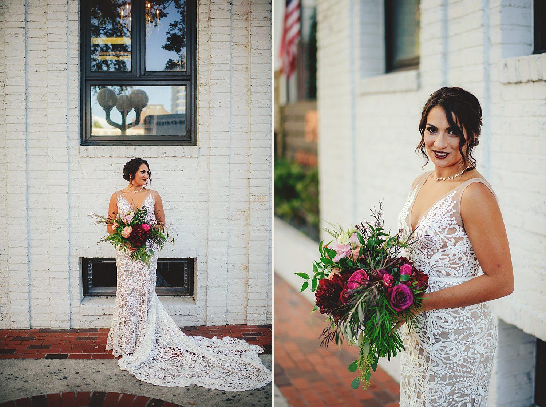 station house wedding bride photos