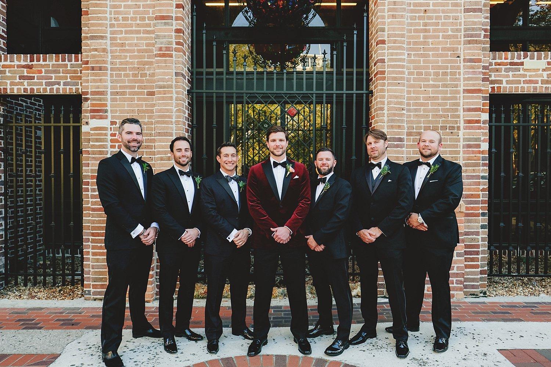 station house wedding groom and groomsmen