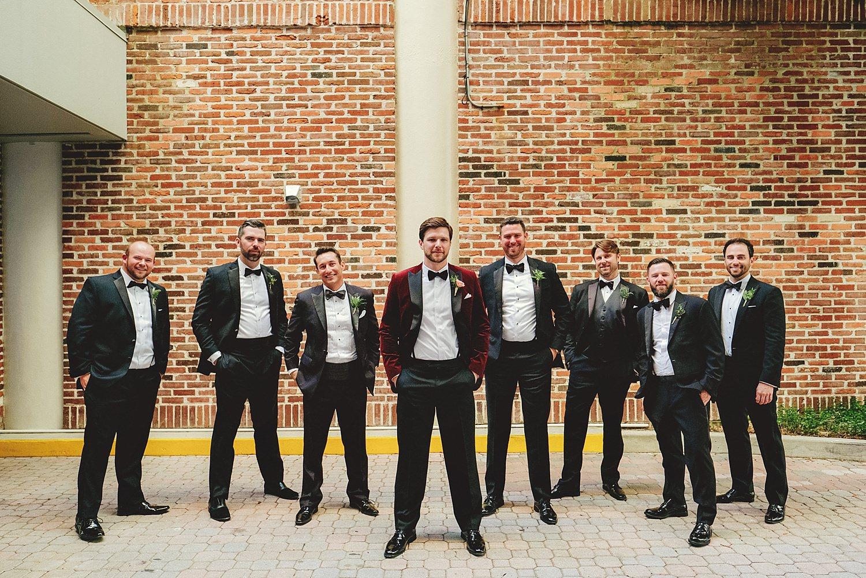 station house wedding groomsmen photos