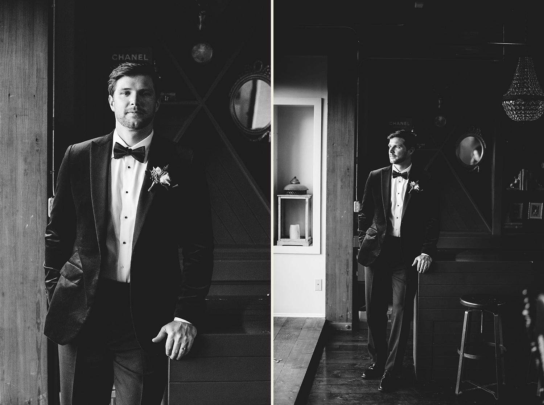 station house wedding groom photos