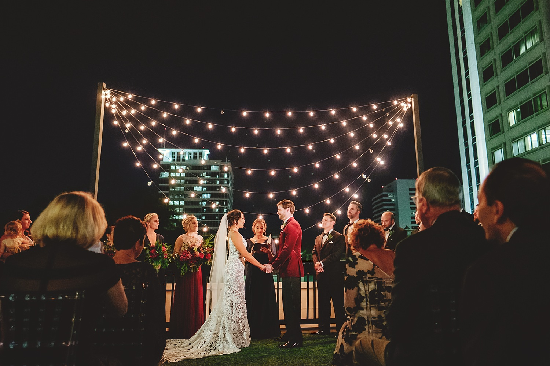 station house wedding ceremony at night