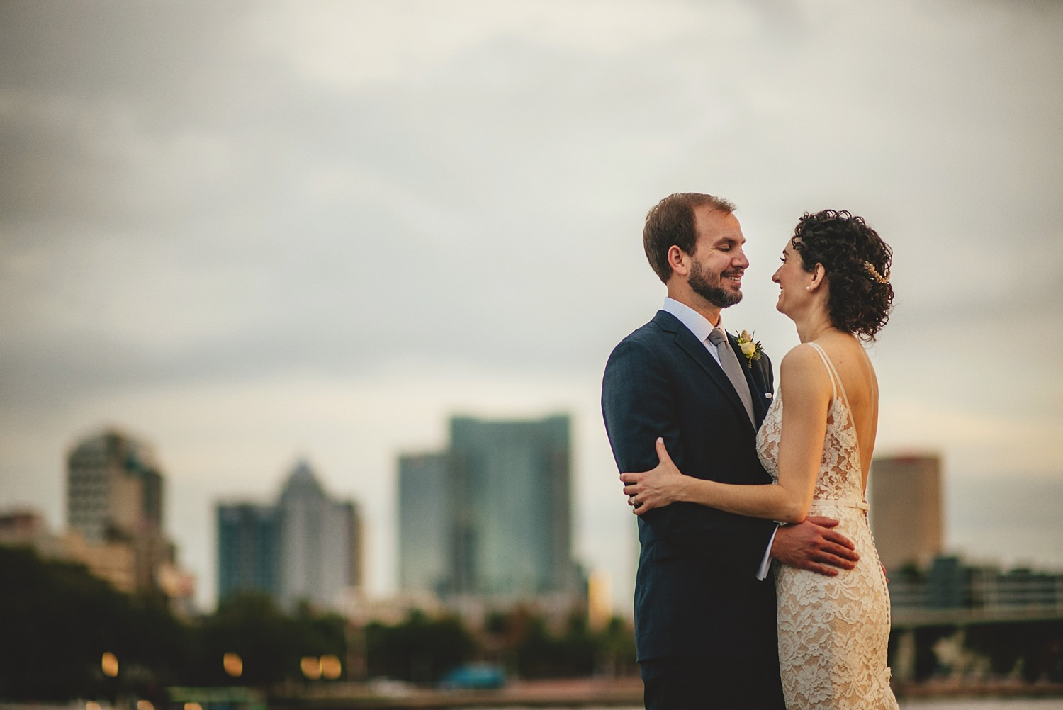tampa skyline wedding