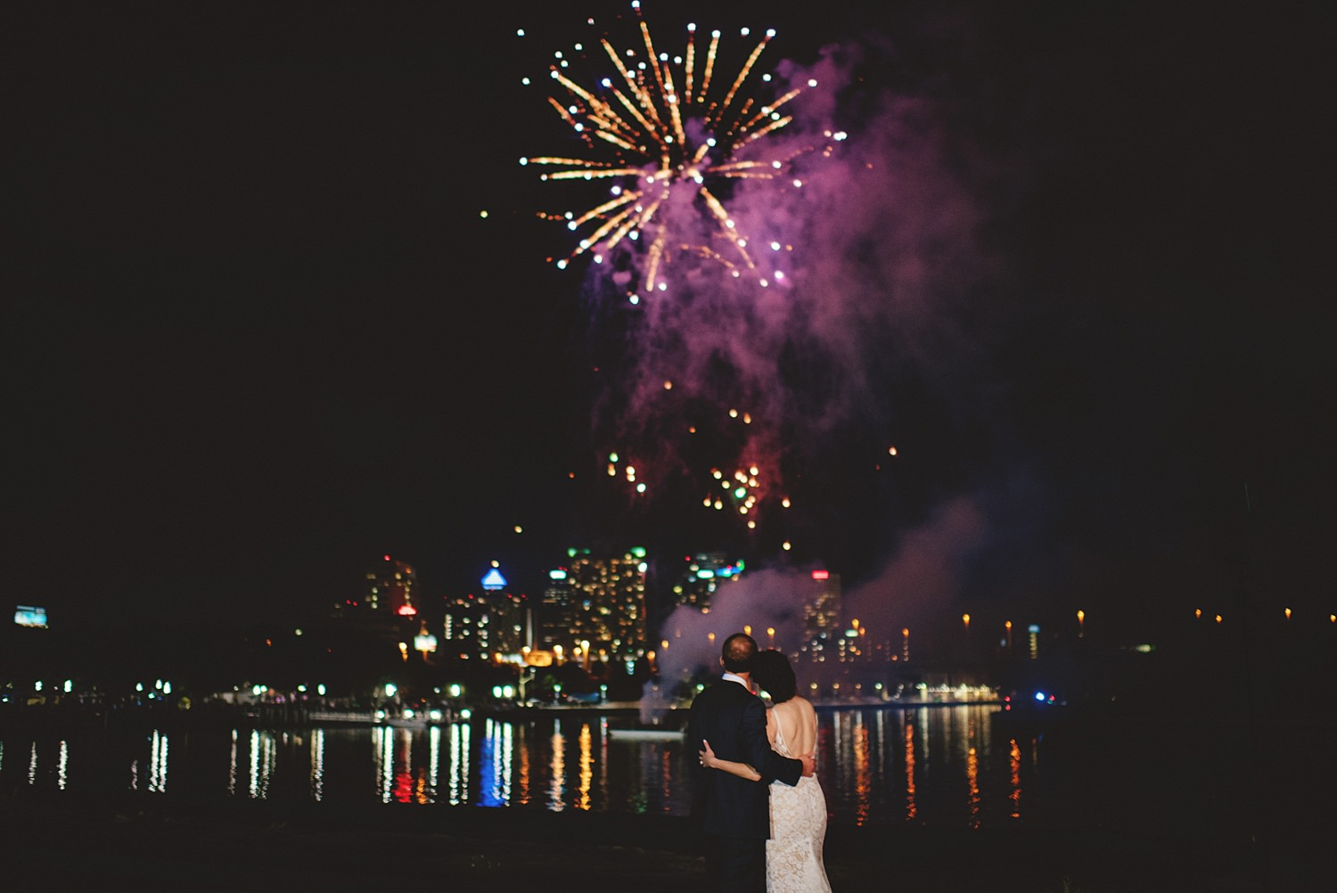 armature works wedding fireworks photos