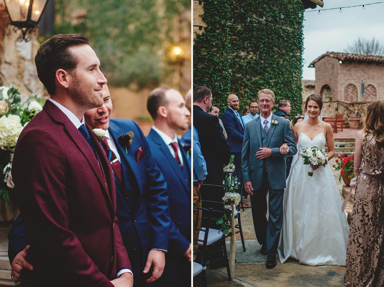 intimate bella collina wedding: ceremony