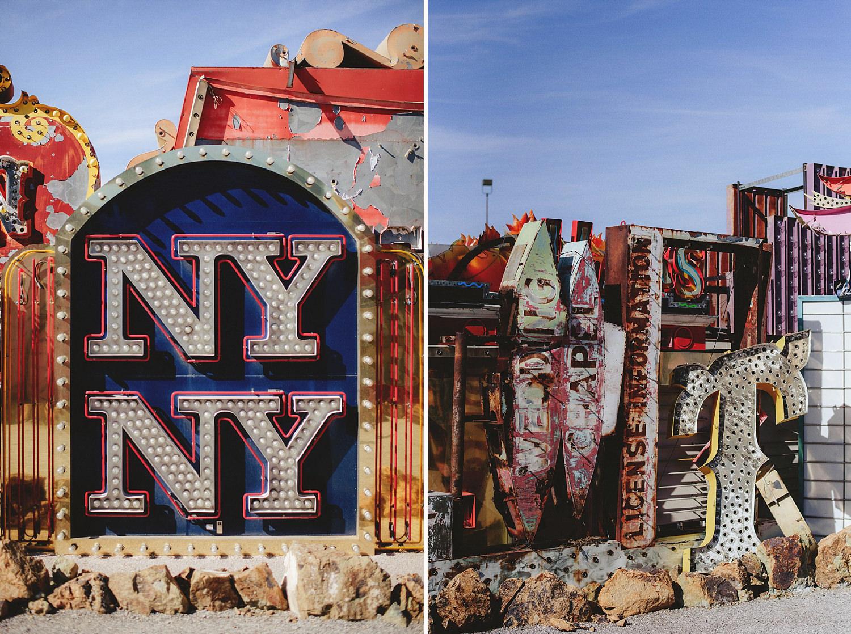 ny ny sign at neon graveyard