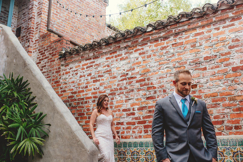 intimate casa feliz wedding: first look