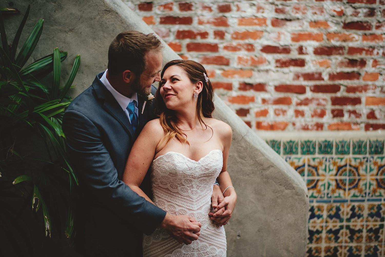 intimate casa feliz wedding: bride and grooms pictures