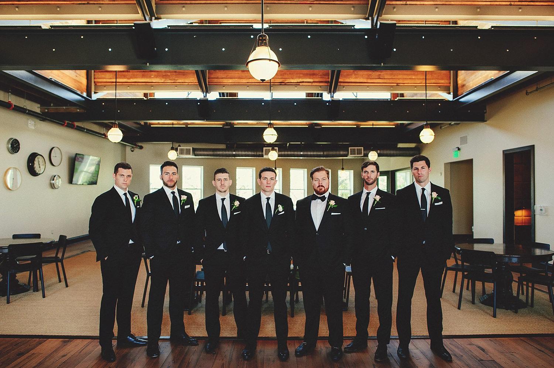 groomsmen at an oxford exchange wedding