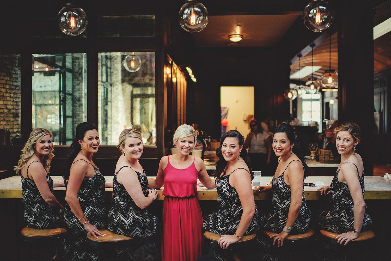 bridesmaids at oxford exchange