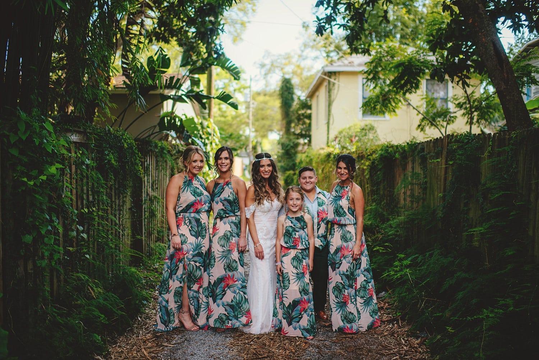 floral bridesmiads dresses