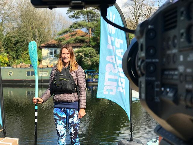 Spent today filming with paddleboarder extraordinaire @lizzie_outside today, highlighting the problem of plastic in our waterways. Take a look at @plastic_patrol . . . #plasticpatrol #plastic #waterways #canal #canals #paddleboarding #pollution #film #filmmaking #fs7 #sony #sonyfs7 #doc #documentary #documentaryfilm