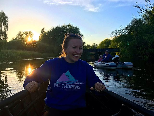 Post work boat trips 🚣‍♀️ . . . #river #ouse #rowing #rowingboat #sunset
