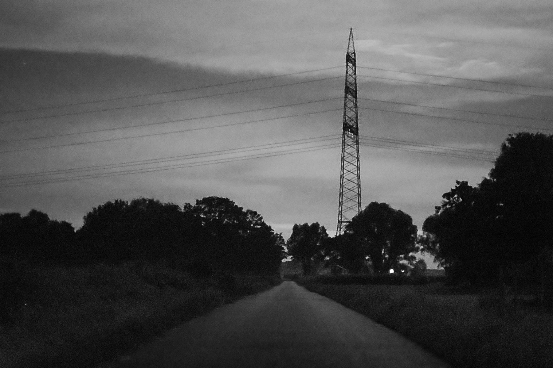 Dank eines extrem hohen ISO-Wertes von 102.000 sind selbst noch Strukturen erkennbar die mit bloßem Auge nicht zu sehen sind, allerdings leidet die Bildqualität darunter; wie sehr diese leidet hängt allerdings vom Kameramodell ab. Dieses Bild ist um 3Uhr nachts in völliger Dunkelheit bei Neumond, am Waldrand, entstanden. 50mm, 1/30sec, f/1.4, ISO 102.000