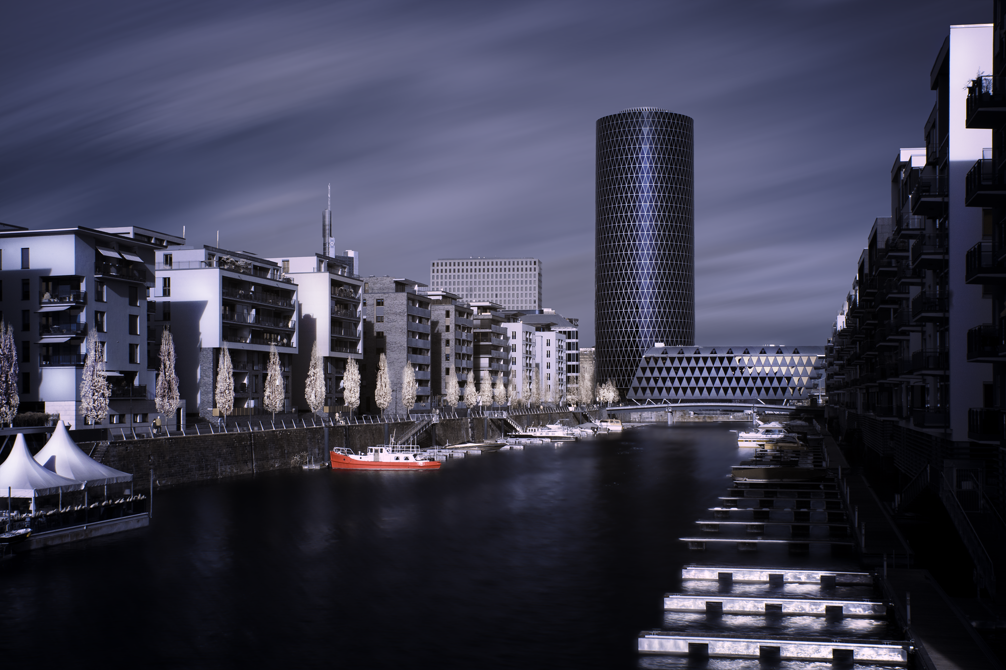 Infrarotfotografie Westhafen Frankfurt