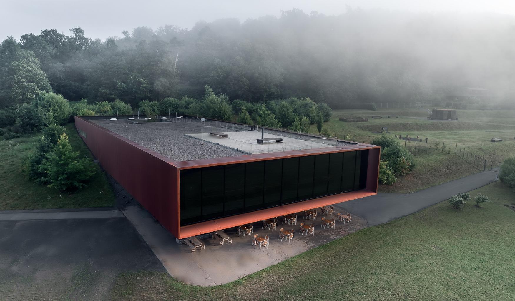 Moderne Architekturfotografie aus der Luft