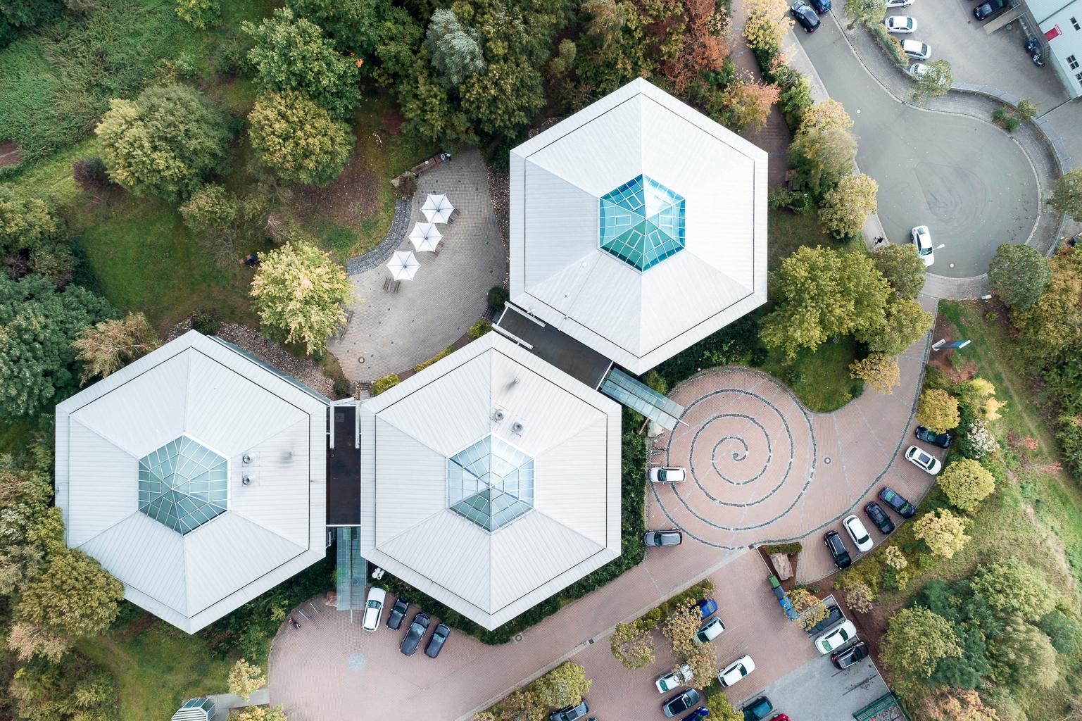 UAV Orthophoto Gewerbeimmobilie Büro, Kaiserslautern