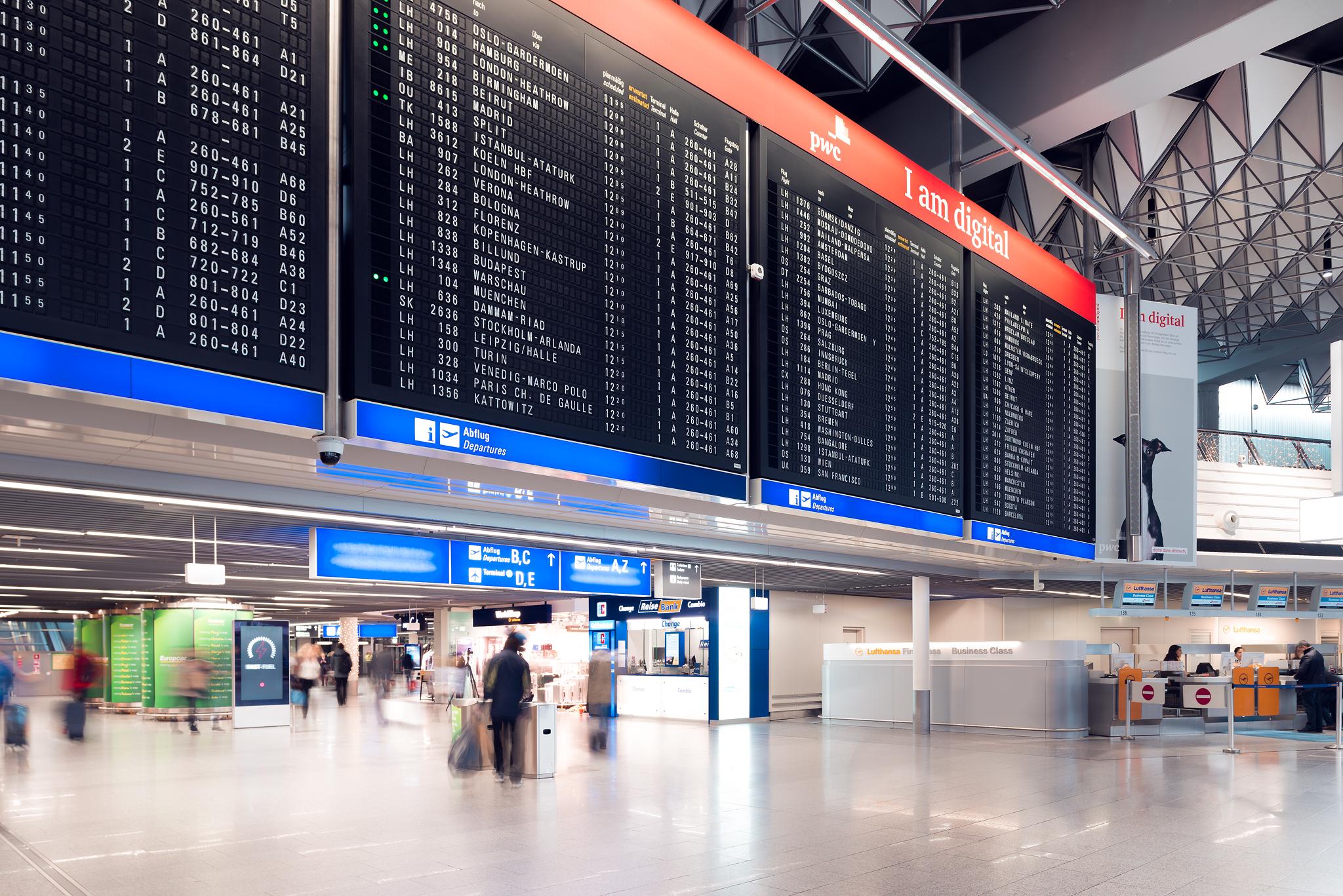Terminal 1 Departures Frankfurt Flughafen