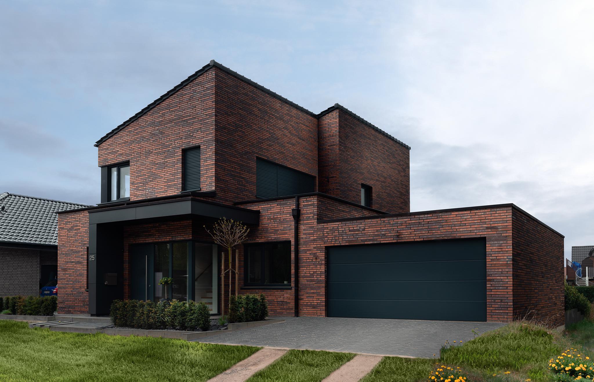 Einfamilienhaus, Außenfassade der ABC Klinkergruppe