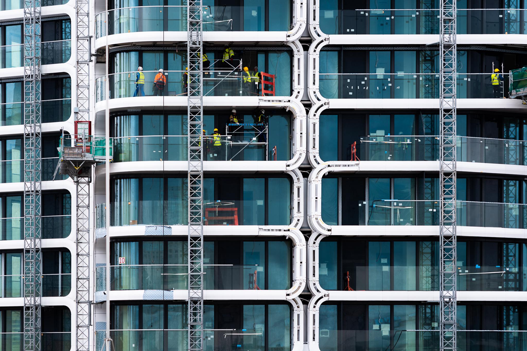 Baustelle Frankfurt Main Hochhaus neubau
