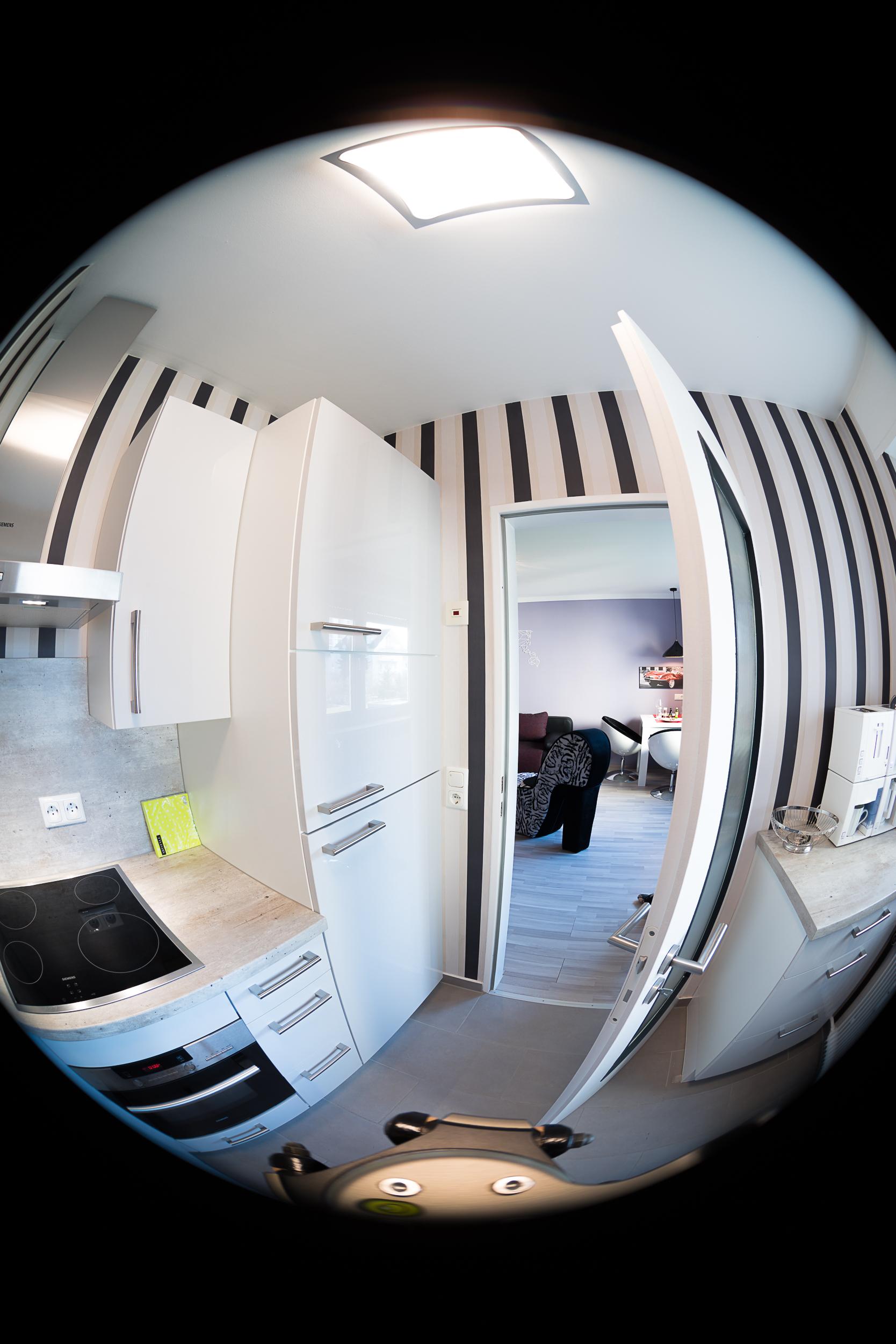 APS-C Fischeye Objektiv auf Vollformatkamera für 360° VR Touren