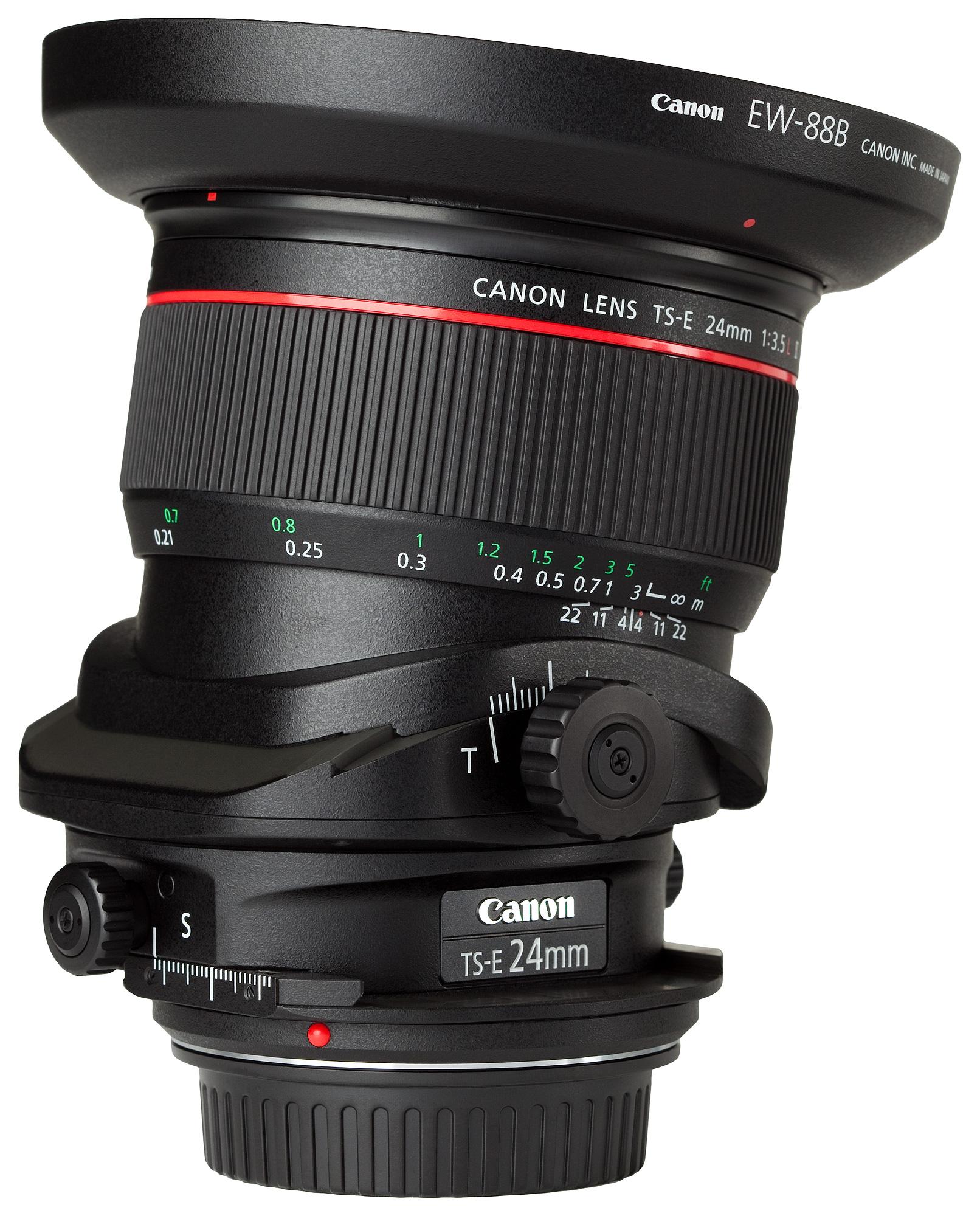 Tilt-Shift Objektiv von Canon. Quelle: Charles Lanteigne (CC BY-SA 3.0)