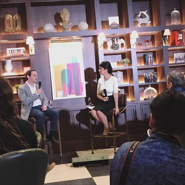 Had a great time this week at @hubweek's curated luncheon with @linda_pizzuti & Jason Robins, CEO of @draftkings