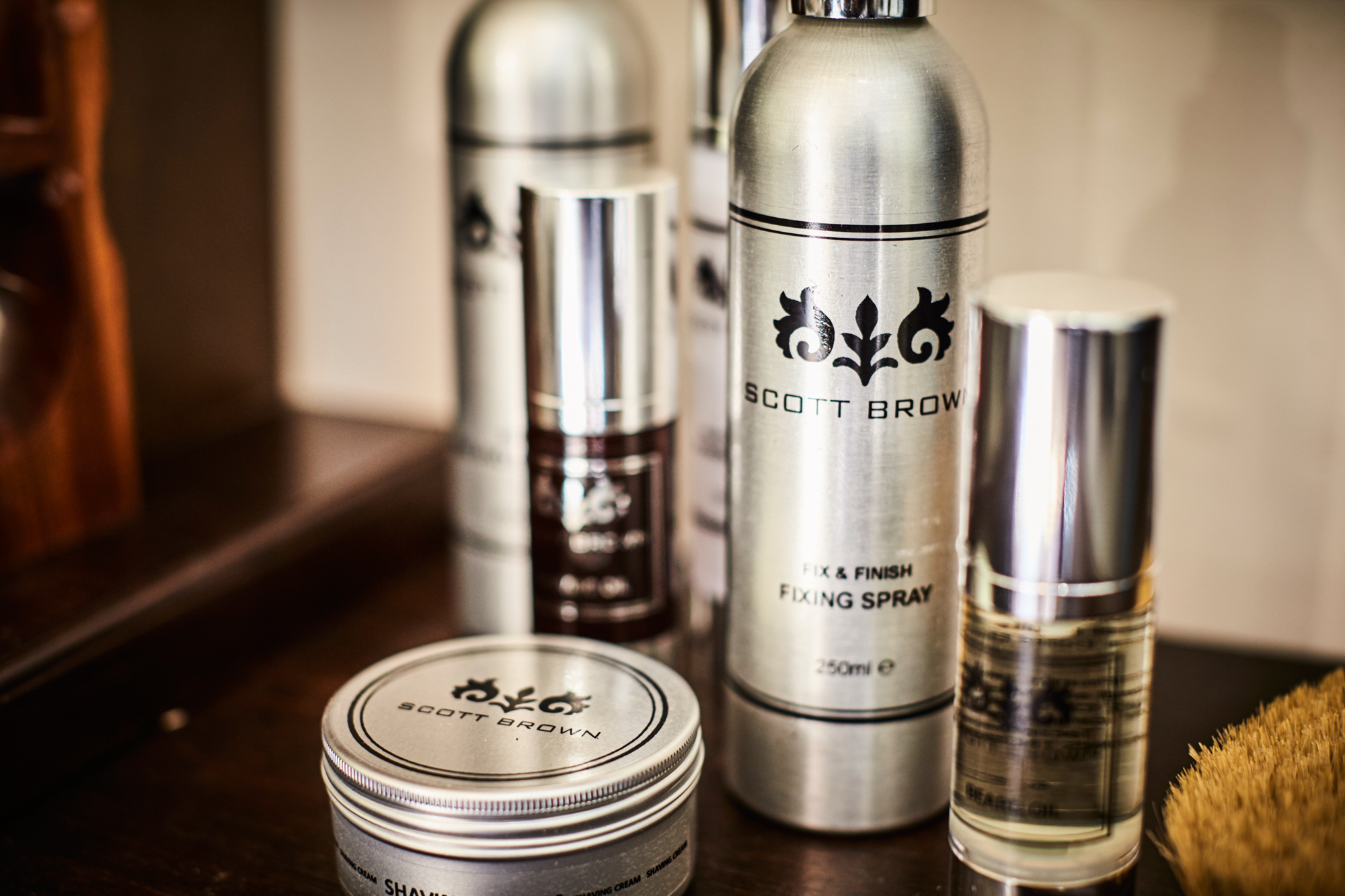 Scott Brown Men's Grooming products used in salons and health clubs too