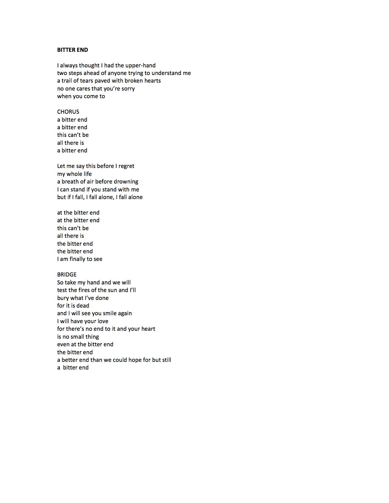 Bitter End Lyrics.jpg