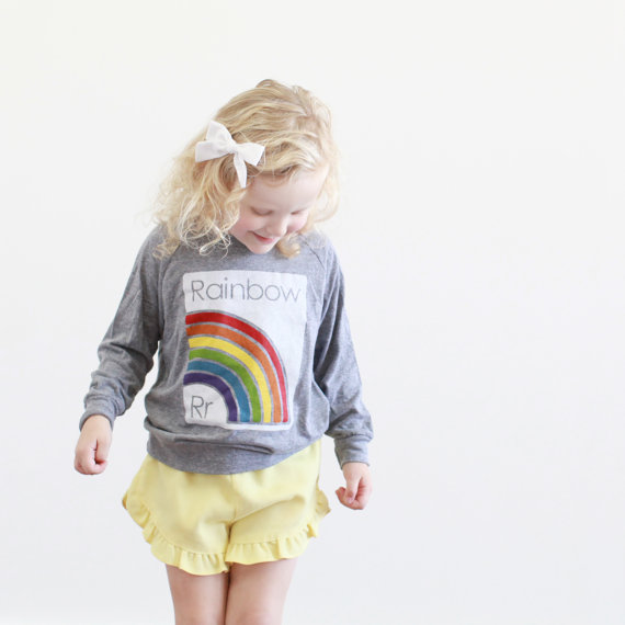 Rainbow Shirt from Etsy Shop, Plucky Mustard