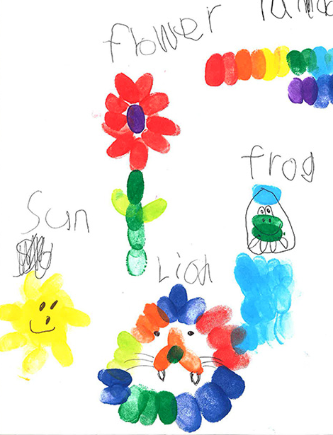 Drawing by a 6 year old while using the Funprint Drawing Book