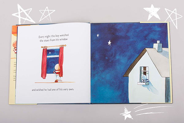 """Every night the boy watched the stars from his window and wished he had one of his very own."""