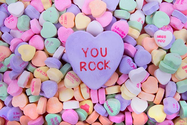 They are much bigger than an actual conversation heart!